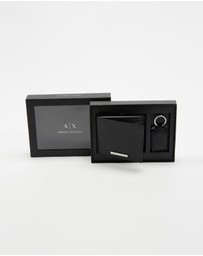 Armani Exchange - Bi-Fold Wallet & Keychain Set