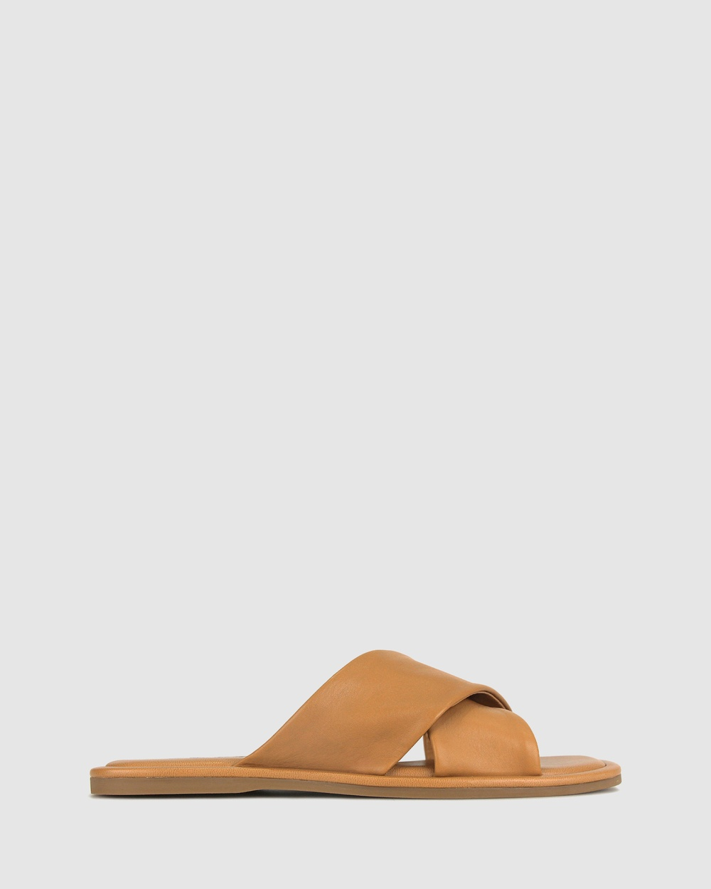 Betts Symi Leather Flats Casual Shoes Camel