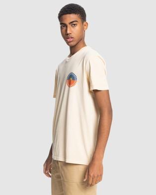 Quiksilver - Mens Crescent City Organic T Shirt - T-Shirts & Singlets (Antique White) Mens Crescent City Organic T-Shirt