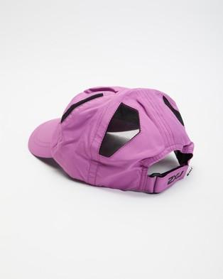 2XU - Run Cap - Headwear (Orchid Mist & Black) Run Cap