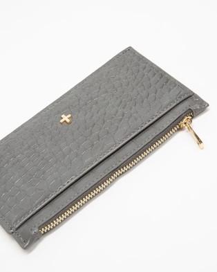 PETA AND JAIN Marley Slim Wallet - Wallets (Grey Croc)