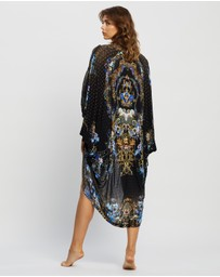 Camilla - Jersey Back Panel With Silk Front Long Line Gathered Layer