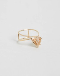 Natalie Marie Jewellery - Offset Trillion Rutilated Quartz Ring