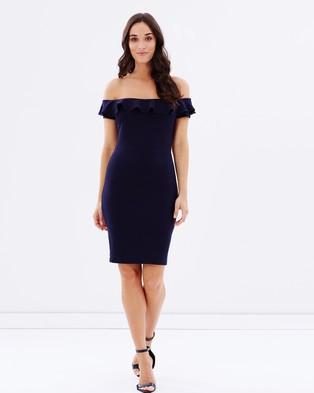 Atmos & Here – Helga Frill Body Con Dress – Bodycon Dresses (Navy)