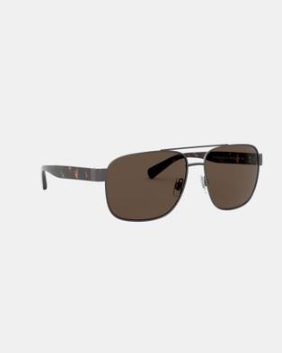 Polo Ralph Lauren PH3130 - Sunglasses (Gunmetal)