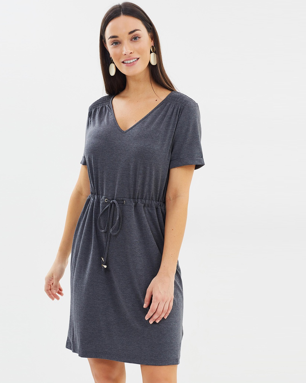 Dorothy Perkins T Shirt Dress Dresses Dark Grey T-Shirt Dress