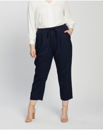 Atmos&Here Curvy - Pia Cotton Blend Pants