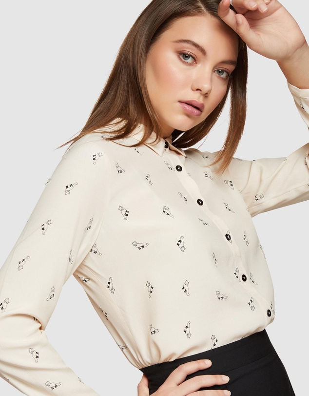 Oxford - Poppy Fox Trot Printed Blouse