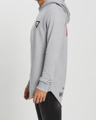 Nena & Pasadena Winchester Hooded Baseball Sweater - Hoodies (Grey Marle)