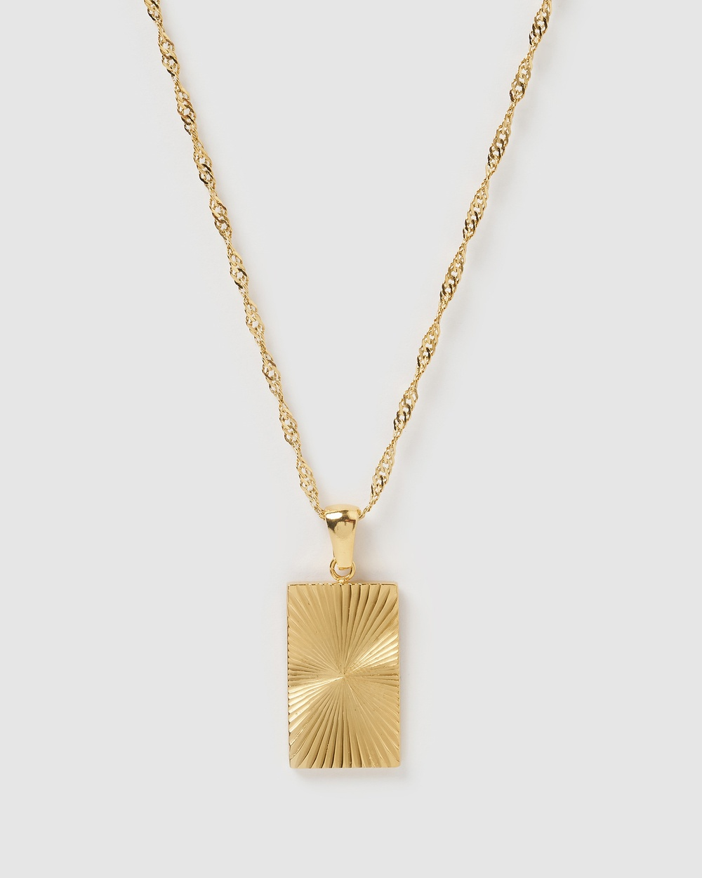 Miz Casa and Co Dina Pendant Necklace Jewellery Gold