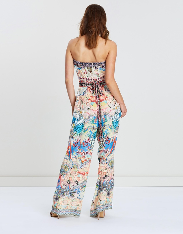 Camilla - Strapless Jumpsuit with Jacket Belt