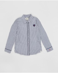 Scotch R'belle - Shirt with Embroidered Edge Details - Teens