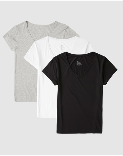 Boody Organic Bamboo Eco Wear - 3 Pack V-Neck T-Shirt