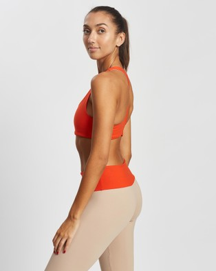 AVE Activewoman Racer Back Sports Bra - Crop Tops (Orange)