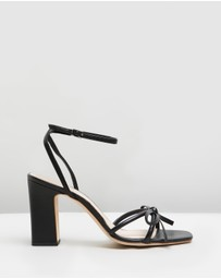 Loeffler Randall - Maeve Knot Bow Ankle Strap Heels
