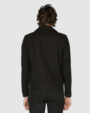 Jack London Black Brixton Jacket - Suits & Blazers (Black)