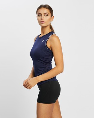 ASICS - Pipping Tank Muscle Tops (Peacoat)