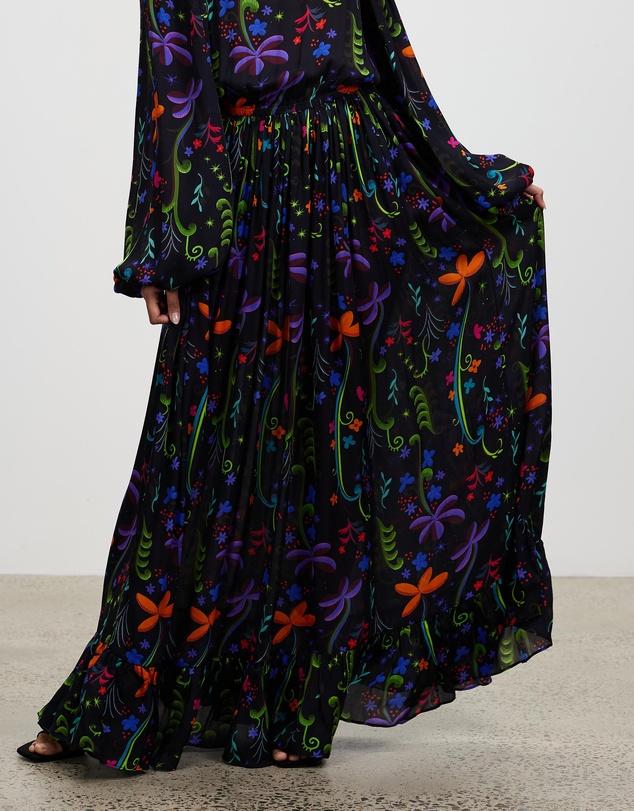 Women Floral Garden Print Gown