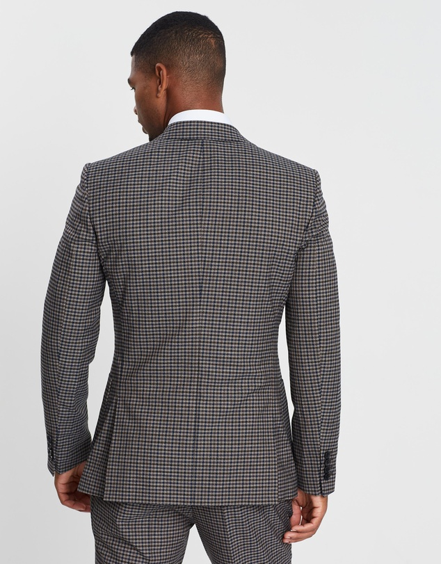 REISS - Tripper Tonal Check Suit Jacket