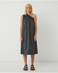 FRIEND of AUDREY - Lola One Shoulder Cotton-Blend Dress