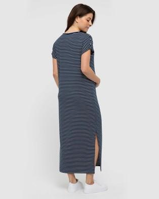 Bamboo Body Elsie Dress - Dresses (Navy & White)