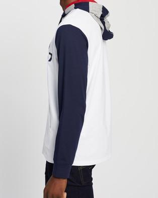 Polo Ralph Lauren Hooded Long Sleeve T Shirt - Hoodies (White Multi)