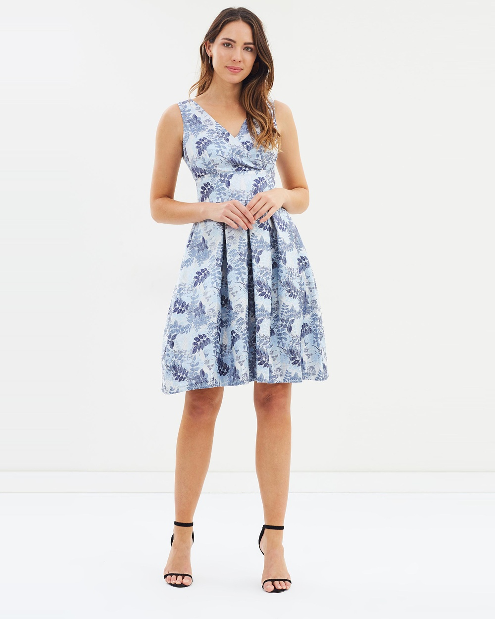Dorothy Perkins Luxe Jacquard Prom Dress Printed Dresses Multi Luxe Jacquard Prom Dress