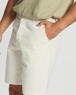 AERE Organic Twill Shorts - Chino Shorts (White)