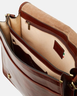 Republic of Florence The Nero Messenger - Satchels (Brown)