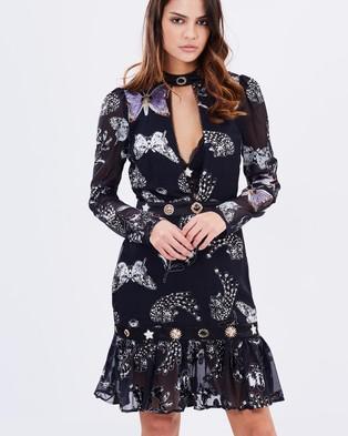 Asilio – Last Horizon Dress Onyx Butterfly Print