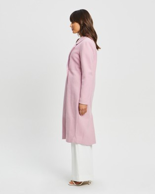 Tussah - Shelby Oversized Coat - Trench Coats (Pale Pink) Shelby Oversized Coat