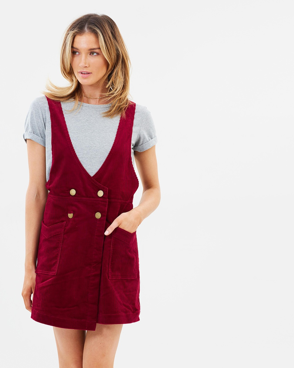 Free People Canyonlands Cord Dress Dresses Red Canyonlands Cord Dress