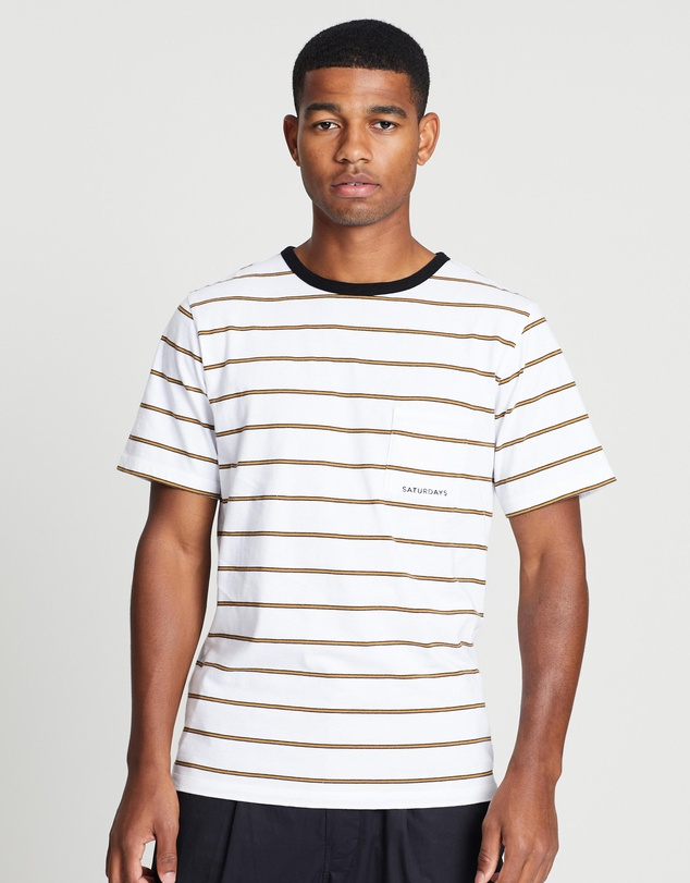 Saturdays NYC - Randall Stripe Short Sleeve Tee