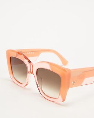 Valley Coltrane - Sunglasses (Transparent Pink, Blush & Brown Gradient Lenses)