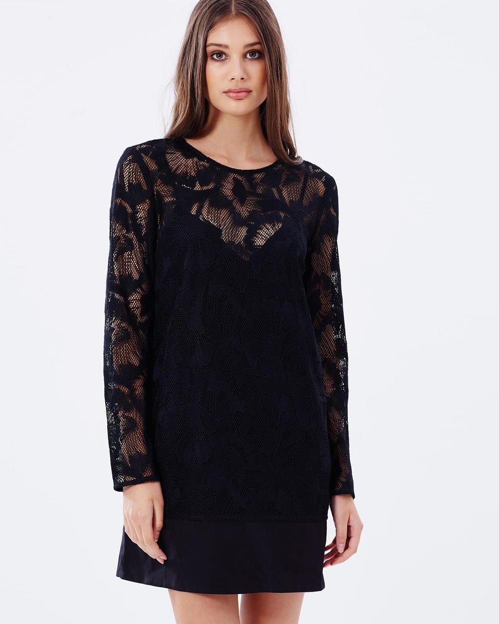 Isla Layback Long Sleeve Dress Dresses Black Layback Long Sleeve Dress