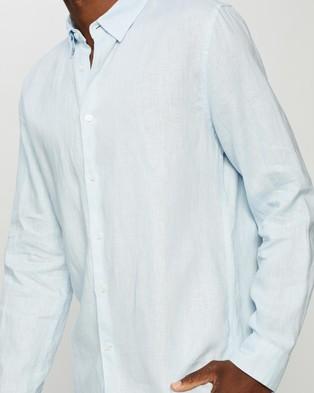 Marcs Felix Linen Ls Shirt - Shirts & Polos (SKY BLUE)