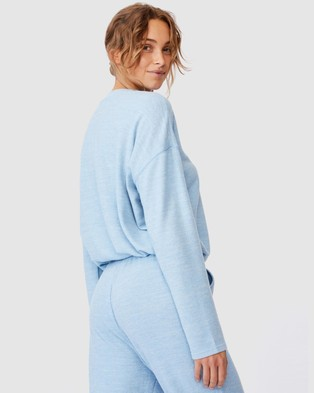 Cotton On Body Super Soft Draw Cord Crew Sleepwear Glacier Blue Marle