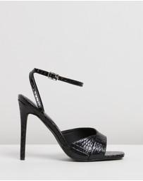 Missguided - Croc Asymmetric Barely-There Heels