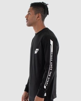 WNDRR - Across Long Sleeve Tee - Long Sleeve T-Shirts (Black) Across Long Sleeve Tee