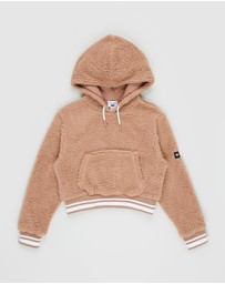Free by Cotton On - Teddy Crop Hoodie - Teens