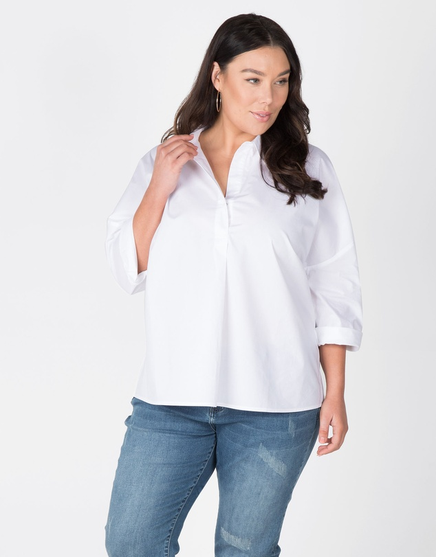 Love Your Wardrobe - Boxy Cotton Shirt