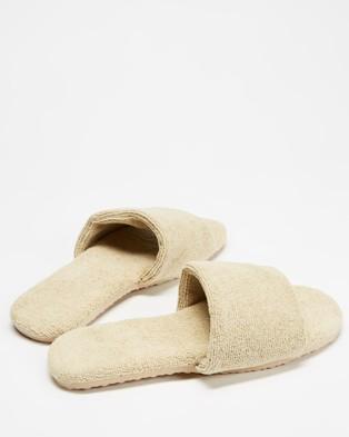 Staple Superior Casablanca Terry Towelling Slides - Sandals (Natural)