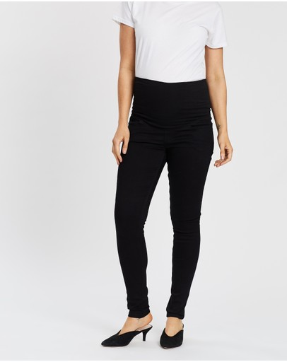 Soon Maternity Essential Over-belly Jeans Black