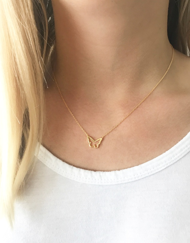 Women Feminine and Free Butterfly Necklace