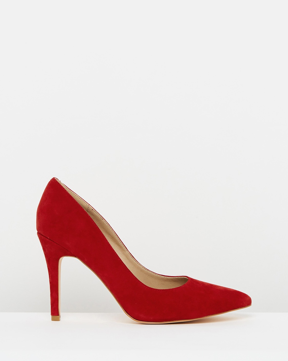Atmos & Here ICONIC EXCLUSIVE Elaine Leather Pumps All Pumps Red Suede ICONIC EXCLUSIVE Elaine Leather Pumps