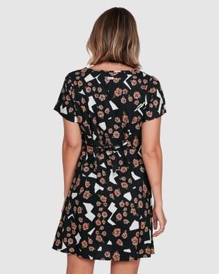 RVCA Floral Pop Dress - Dresses (BLACK)
