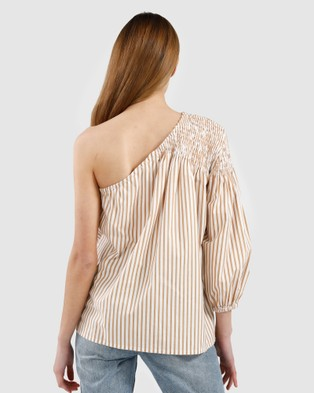 Kinney Louise Top - Tops (Canary Stripe)