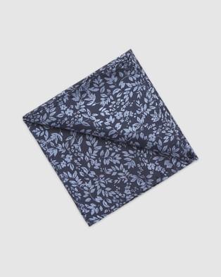 Buckle Verde Tie & Pocket Square Set - Ties (Navy)
