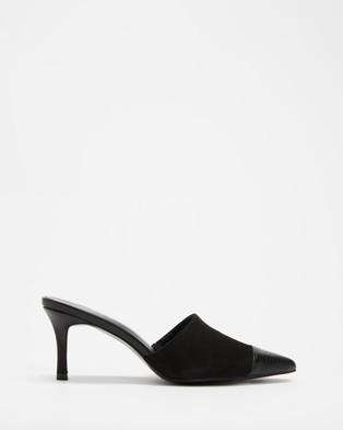 Dazie - Charlie Heels Mid-low heels (Black Smooth)