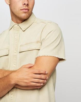 Commune Cotton Twill Shirt - Casual shirts (Sand)